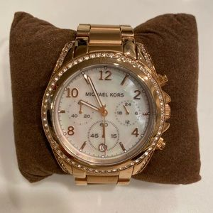 Michael Korda Rose Gold Watch with crystals